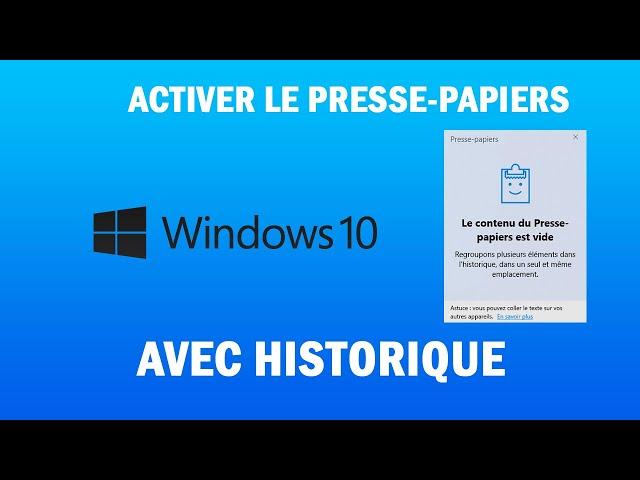 [TUTO] Comment activer le presse-papiers avec historique de Windows