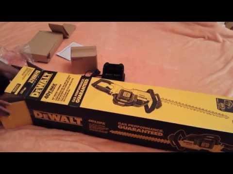 NEW Dewalt 40v max hedge trimmer unboxing and test