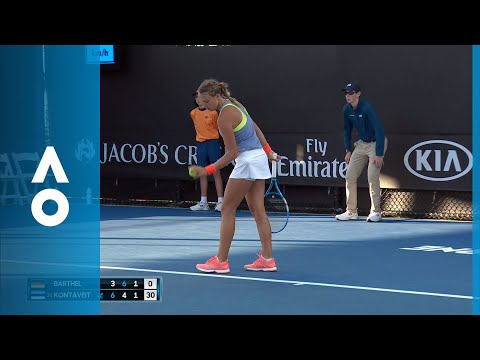 Mona Barthel v Anett Kontaveit match highlights (2R) | Australian Open 2018