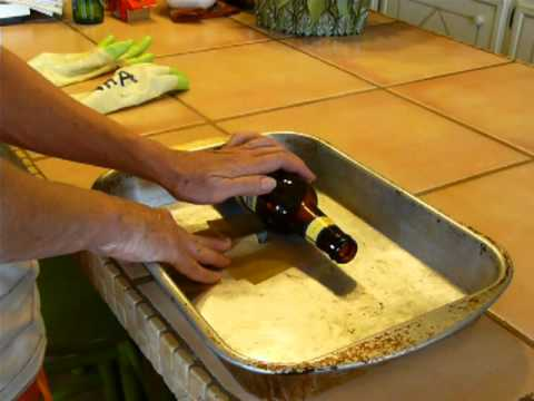 Cut glass bottles in 3 minutes with 3 corte garrafa de for Cut glass bottle with string and fire
