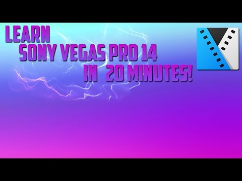 Learn Sony Vegas Pro 14 in 20 minutes!