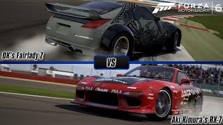 Forza Motorsport 6: DK's Fairlady Z vs. Aki Kimura's Mazda RX-7 | Drift King Battle [60 FPS]