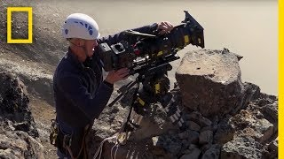 Filming Cliff-Jumping Geese: On Location | Hostile Planet