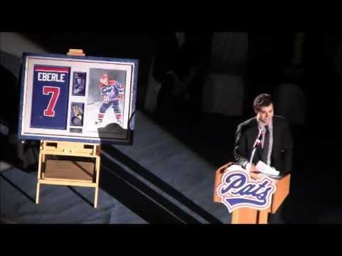 Jordan Eberle Jersey Retirement Ceremony