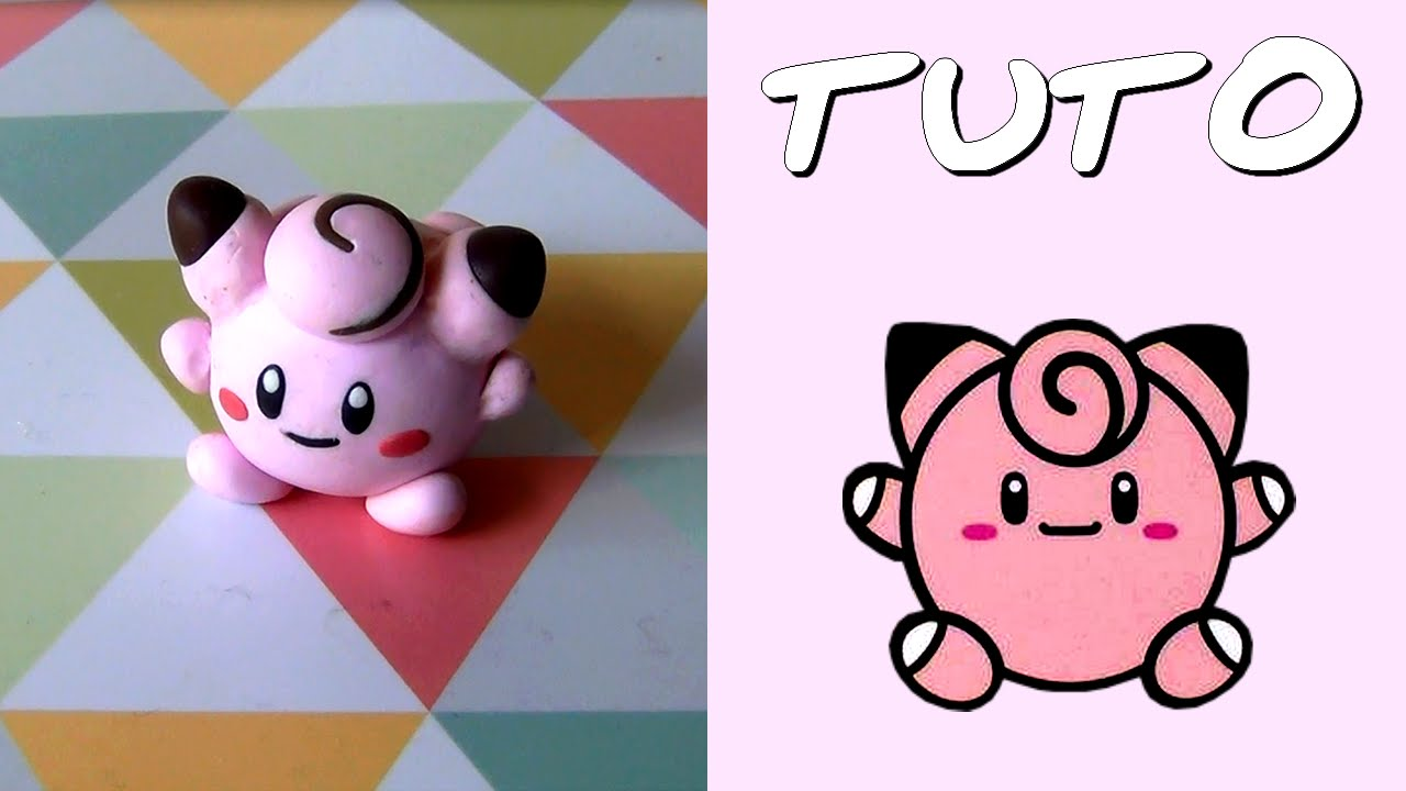 tuto fimo m lof e pok poup e clefairy pokedoll de pok mon facile youtube. Black Bedroom Furniture Sets. Home Design Ideas