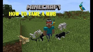 HOW TO TAME A MOB / MINECRAFT TUTORIAL / 3