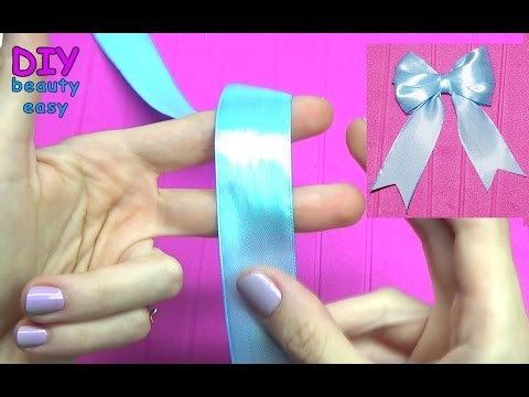 DIY crafts - How to Make Simple Easy Bow/ Ribbon Hair Bow Tutorial // DIY beauty and easy