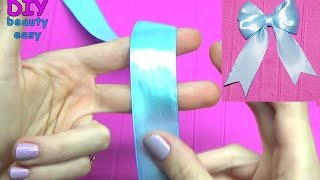 DIY crafts - How to Make Simple Easy Bow/ Ribbon Hair Bow Tutorial ...