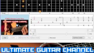 [Guitar Solo Tab] I Will Always Love You (Whitney Houston)