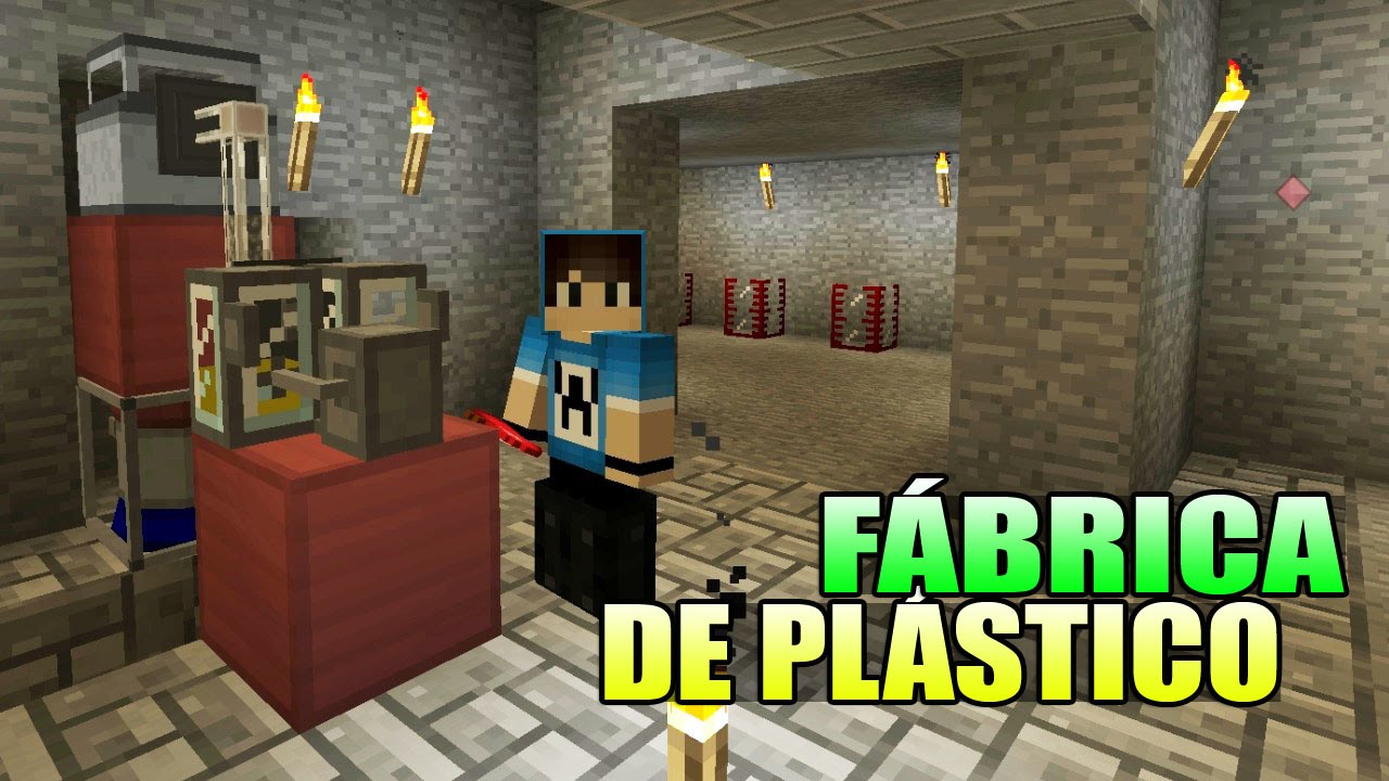 Minecraft industrial craft fabrica de pl stico youtube for Fabrica de plasticos