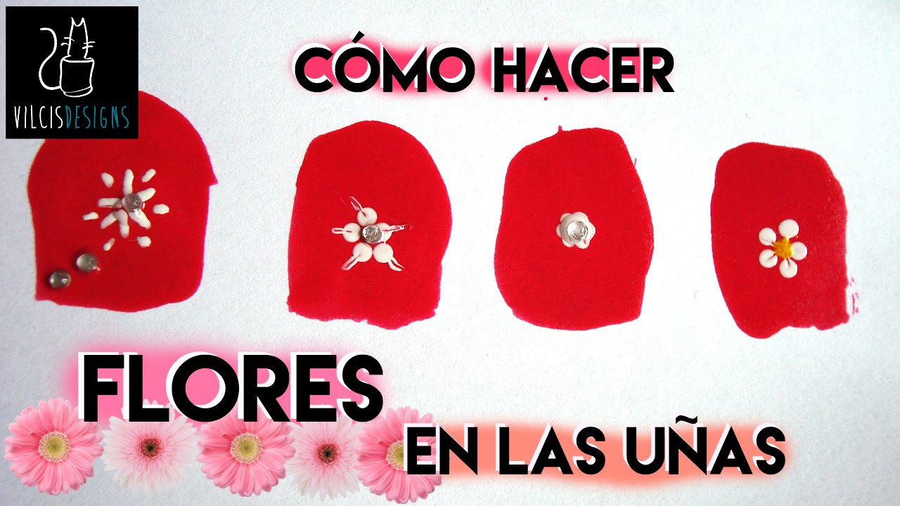 Como Hacer Flores En Las Unas How To Draw Flowers On Your Nails