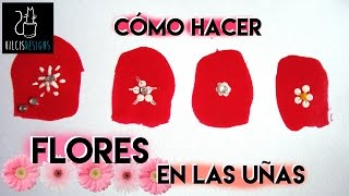 Cómo Hacer Flores En Las Uñas How To Draw Flowers On Your Nails Youtube