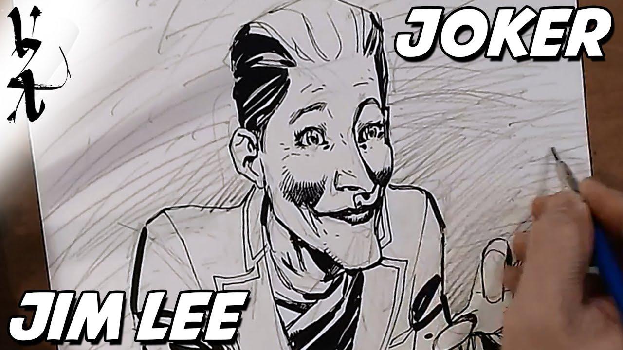 Joker Scribble Drawing : Jim lee drawing the sims joker youtube