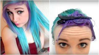 Dyeing My Hair Blue & Purple - 2014