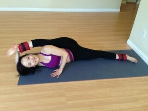 Do splits with ankle weights, strengthen legs while stretch them ...