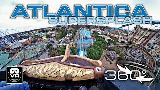 360° Atlantica SuperSplash | Water Roller Coaster on-ride POV Europa Park - 4K #360video VR