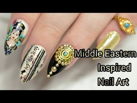 How To Stamp: Middle Eastern Inspired Nail Art