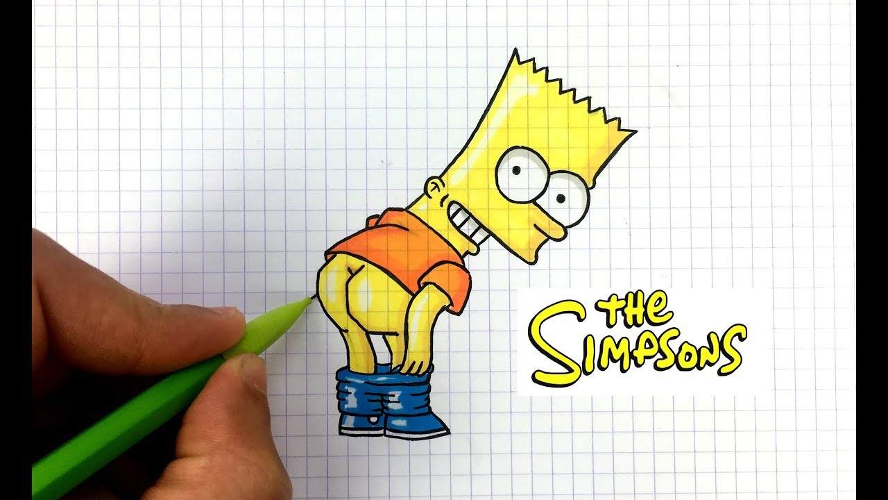 Dessin bart simpson pixel art youtube - Dessiner simpson ...
