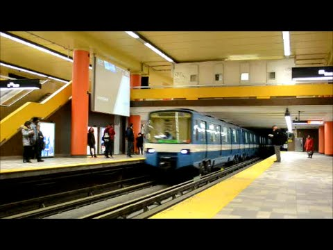 MONTREAL STM METRO ACTION AT 3 STATIONS