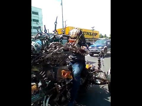 Predator riding Alien Trike Chopper