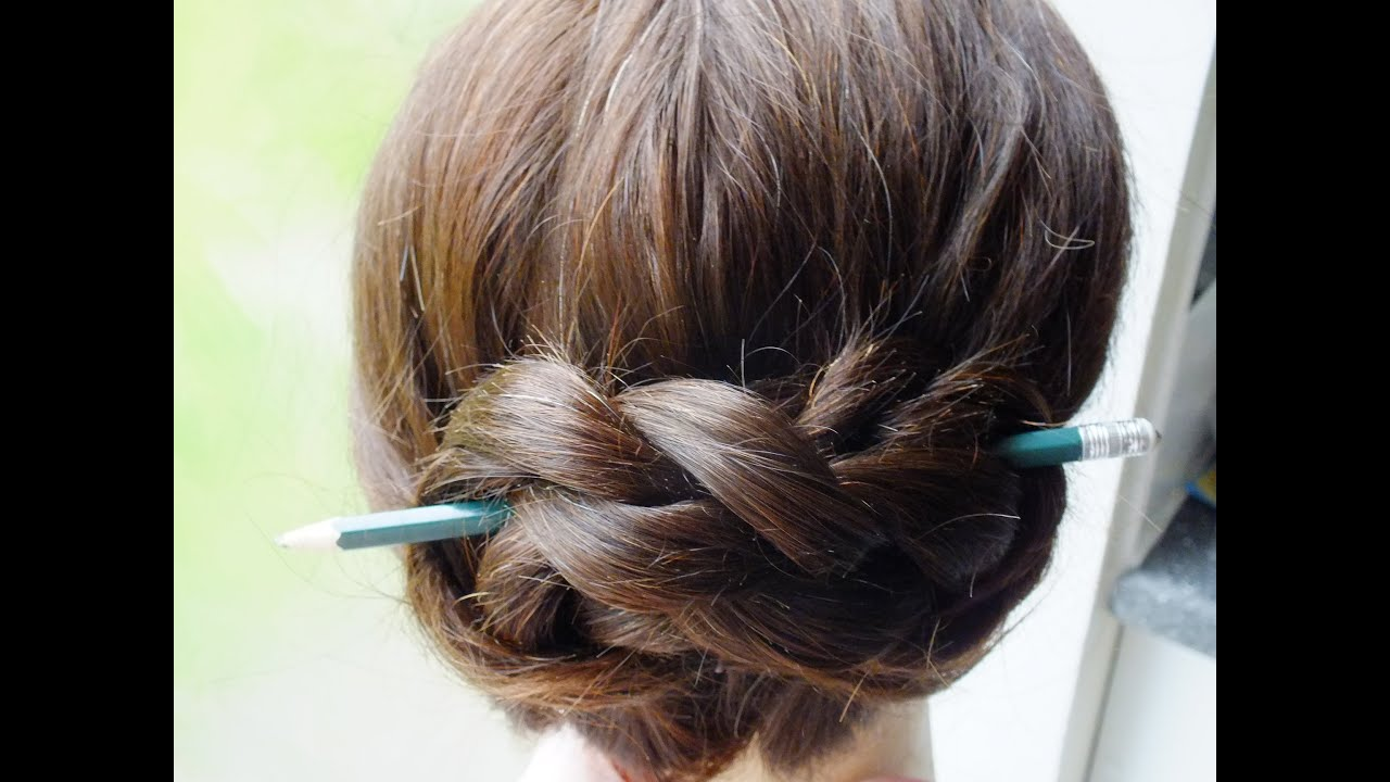 3 Hairstyles Using A Pencil   YouTube