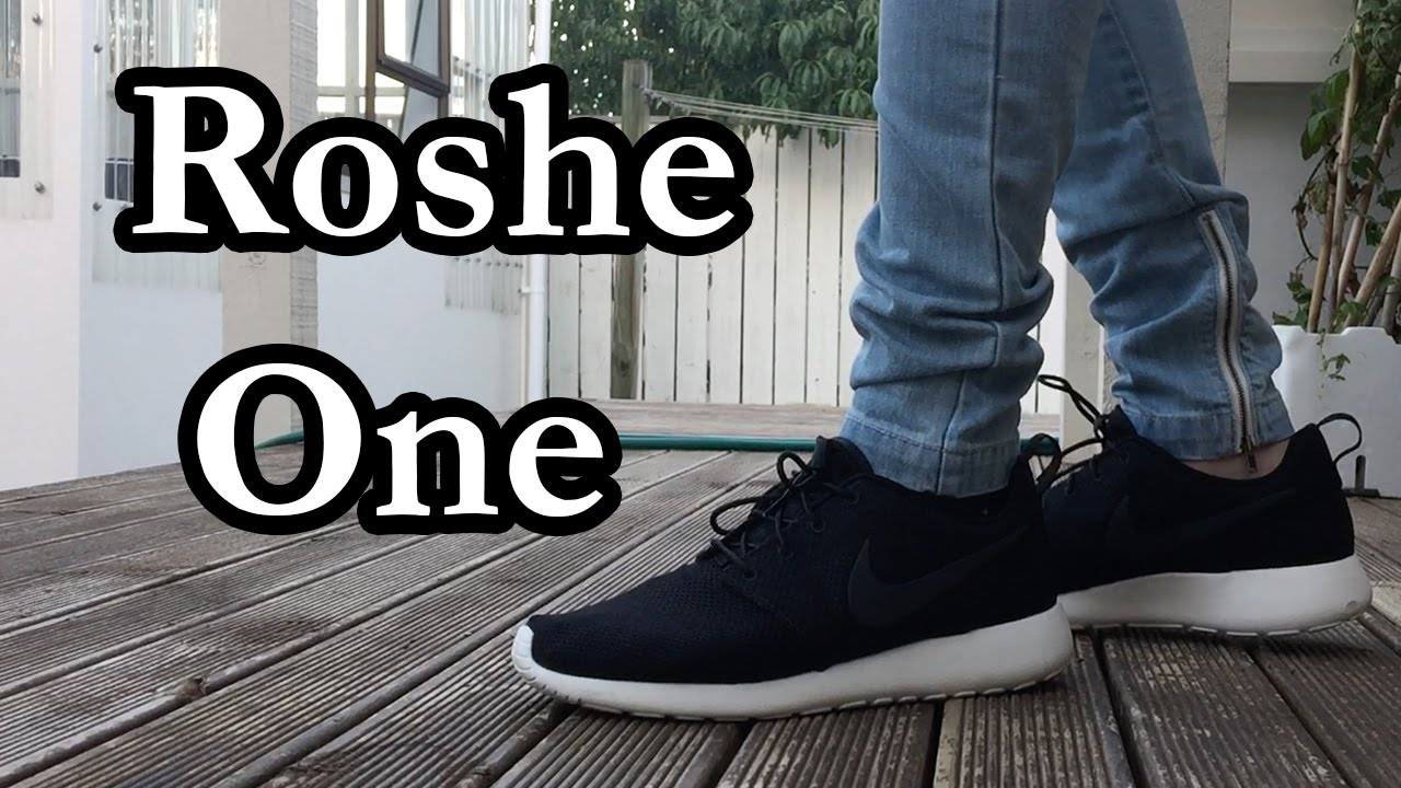ef586a13972b Nike Roshe One (Black   White) On Feet Look - YouTube