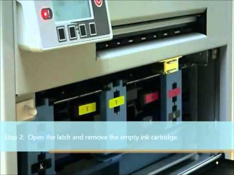 VP700 Color label Printer has easily replaced cartridges