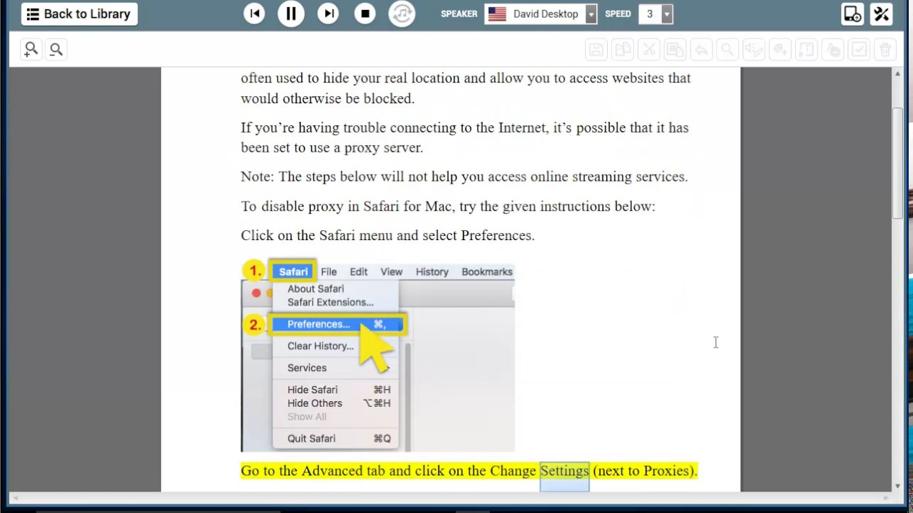 How to disable a proxy server 56