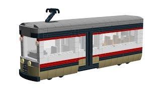 LEGO Train - Tramway - Streetcar - Straßenbahn - MOC