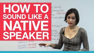 How to sound like a native speaker – Word Stress