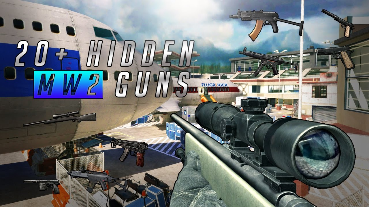 20 Hidden Mw2 Guns Modern Warfare 2 Secret Weapons Youtube