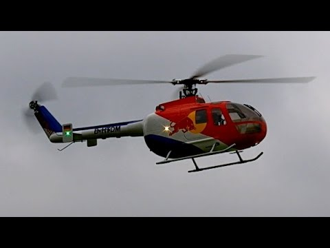 rc bo 105 scale modell helicopter 500 size   flight demonstration  hd  youtube B0 105 Helicopter Eurocopter BO-105