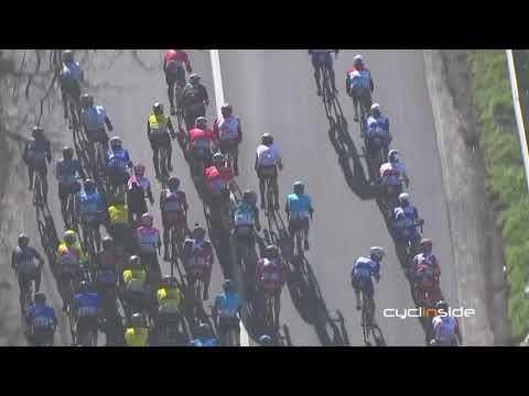 Caduta di Gaviria e recupero di Sagan. Tirreno Adriatico 2018 - tappa/stage 06