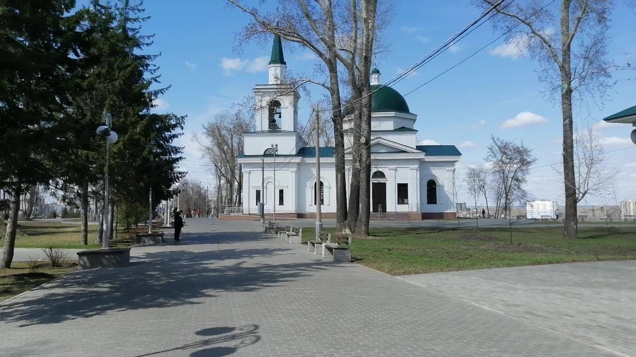 Нагорный парк в Барнауле весной
