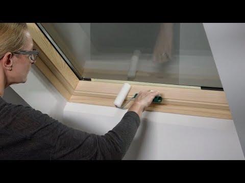 Lackschaden am VELUX Dachfenster beseitigen - YouTube