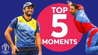 Nabi? Perera? Karunaratne? | Afghanistan vs Sri Lanka - Top 5 Moments | ICC Cricket World Cup 2019