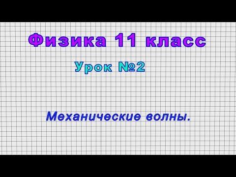 Физика 11 класс (Урок№2 - Механические волны.)