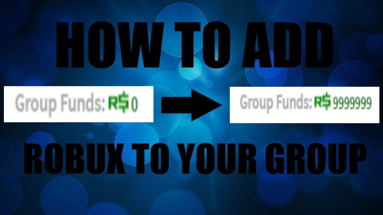 How To Put Robux Into Your Group Roblox Tutorial Youtube