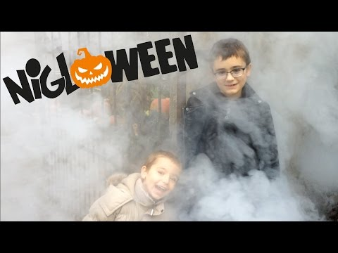VLOG FLASHBACK - 1ère fois à NIGLOWEEN pour Swan & Néo ! - Parc d'Attractions Halloween streaming vf