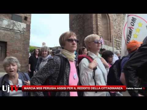 Conclusa la Marcia Perugia Assisi per il reddito di cittadinanza, circa 1500 persone