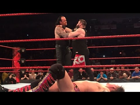 Undertaker Chokeslamming Chris Jericho & Kevin Owens After WWE Raw, Jan. 9, 2017 Footage!
