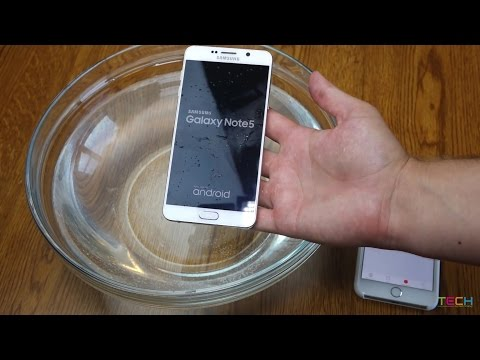 Samsung Galaxy Note 5 WATER TEST! Don't drop your Note 5 in WATER! A Waterproof Test and Review.