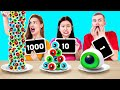 100 LAYERS OF GUMMY FOOD CHALLENGE! || Funny Challenges To Try by 123 Go! GOLD