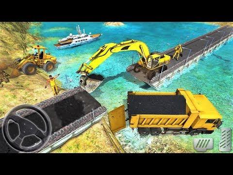 Real City Road River Bridge - Construction Simulator - Android GamePlay