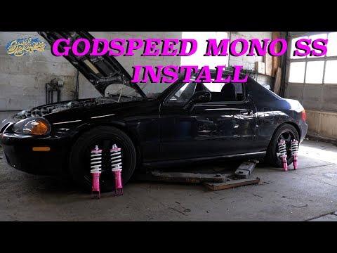 Del sol Coilover Godspeed Mono SS Install