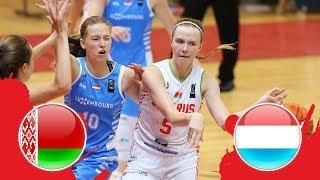 Belarus v Luxembourg - Full Game - FIBA U18 Women's European Championship Division B 2018