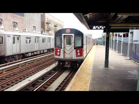 IRT Jerome Avenue Line: Manhattan & Woodlawn Bound R142/A (4) Trains @ Fordham Road