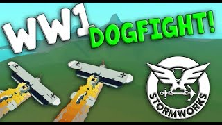 WW1 DOGFIGHT + MISSION IMPOSIBLE!  -  Stormworks: Build and Rescue
