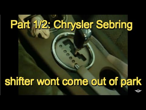 Part 12 2008 Chrysler Sebring Shifter Will Not E Out Of Park. Part 12 2008 Chrysler Sebring Shifter Will Not E Out Of Park. Chrysler. 2008 Chrysler Sebring Parts Sub Frame Diagram At Scoala.co