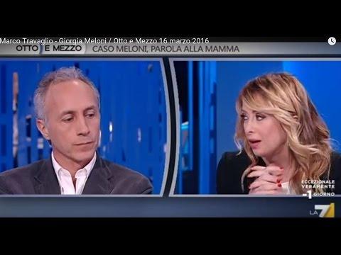 Marco Travaglio - Giorgia Meloni / Otto e Mezzo 16 marzo 2016